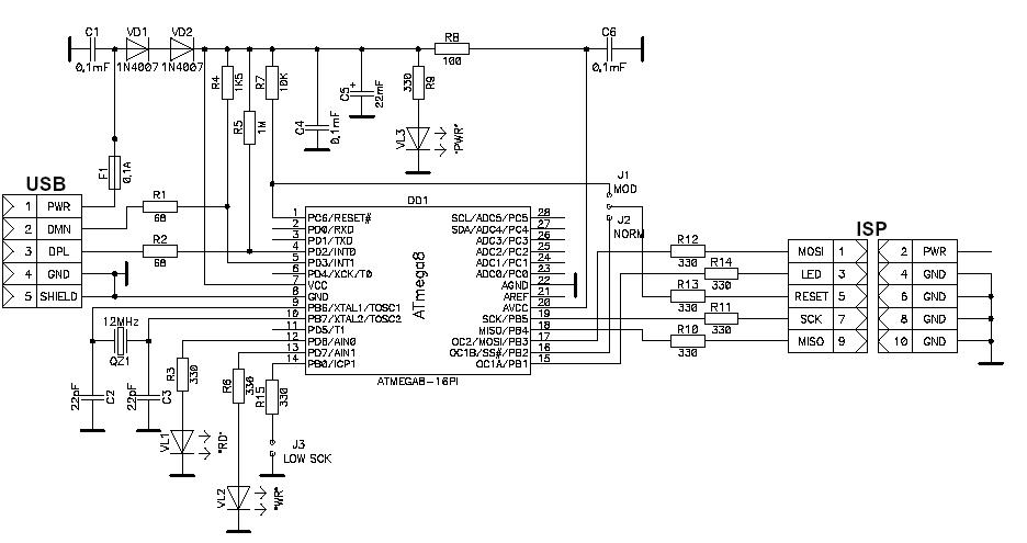 027-UniProf-программируем AVR через LPT порт. — GetChip.net